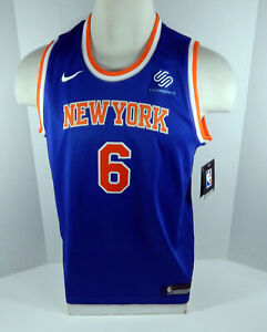 Youth New York Knicks Kristaps Porzingis #6 Blue Jersey Swingman Large Nike