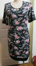 Ladies Black and floral Dress size 14 Millers Brand  short sleeved