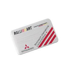 Aluminum Car Badge Sticker Emblem Side Decal Accessories for RALLIART Mitsubishi