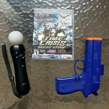 OEM Sony PS3 Move Motion Controller + Madcatz Gun + Time Crisis Razing Storm