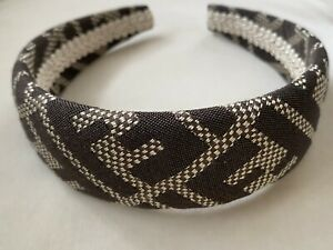 Luxury headband FF logo Fendi fabric