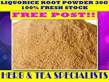 LIQUORICE ROOT POWDER 30g TEA ☆100% FRESH LICORICE☆Glycyrrhiza glabra☆DRIED HERB