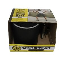 "Golds Gym Weight Lifting Leather Belt Size S/M 22-33"" in Length Brand New, 0011"