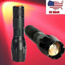 Zoomable Zoom 1000LM Lamp XM-L T6 18650 LED Red Light Flashlight Focus Torch US