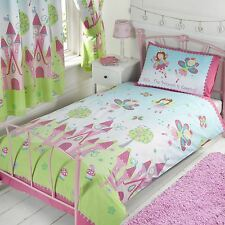 PRINCESS IS SLEEPING JUNIOR DUVET COVER SET + 66in x 72in MATCHING CURTAINS
