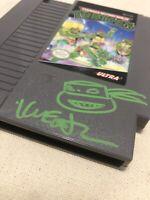 Kevin Eastman Signed  Ninja Turtles NES game sketch Pristine COA TMNT Autograph