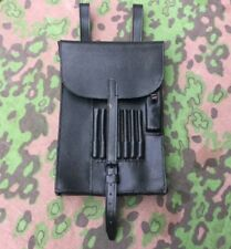 German M35 Dispatch Case Black Leather Repro Map Case Wehrmacht NEW Field Kit