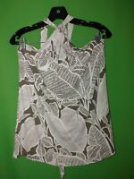 3738) NWT TOMMY BAHAMA small S green brown floral jersey knit tank top new S