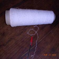 BOBINE FIL A TRICOTER BLANC BOUCLE 0,49 KG (avec cône carton) / knotting yarn