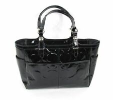 COACH Embossed Gallery Tote F16564 Black Patent