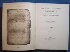 BOOK NEW TESTAMENT WASHINGTON MANUSCRIPTS FREER COLLECTION 1918 PART 1 PART 2 GO