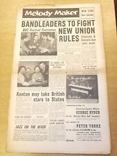 MELODY MAKER 1956 APRIL 14 DON RENDELL HARRY KLEIN DON SMITH JAZZ BIG BAND SWING