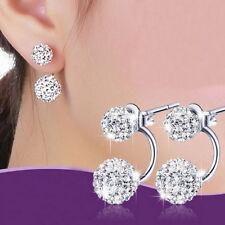Fashion Jewelry 1pair Women Lady Elegant pearl Rhinestone Ear Stud Earrings Z