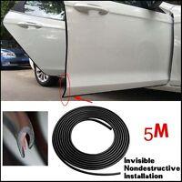 5m Rubber Black Car Door Trim Edge Sill Guard Body Bumper Scratch Protect Strip