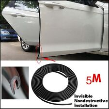 16FT/5M Black Car Door Moulding Trim Rubber Strip Scratch Protector Edge Guard