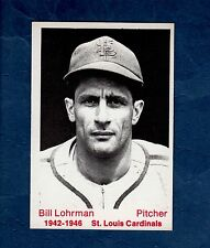 William Leroy Bill Lohrman, 1942-1946 St. Louis Cardinals ~ 1975 Tcma, Ltd.