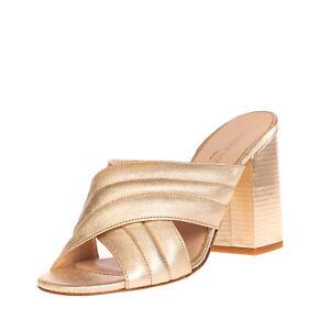 RRP €125 NICOLE BONNET PARIS Leather Mule Sandals EU 39 UK 6 US 9 Made in Italy