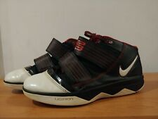 Mens NIKE LEBRON JAMES Zoom Soldier III Black White Basketball Shoes Size 9.5