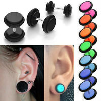 """1-4 Pairs Acrylic Fake Plugs for Pierced Ears Bright Colors & O-Rings 4G-1/2"""" US"""