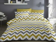 Fusion Chevron Ochre And Grey Duvet Cover Sets-Bedding Sets,Reversible,Free P&P