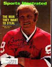 1972 Bobby Hull Chicago Blackhawks Hof Autographed Signed Sports Illustrated