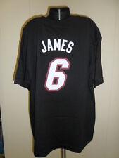 Adidas NBA Youth Size MIami Heat Lebron James Name & Number Tee Shirt NWT $22 XL