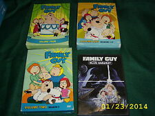 Family Guy DVD Lot Volume 1 , 2 , 4 and Blue Harvest USED