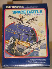 Space Battle blue Game for Intellivision I II Mattel overlays instructions & Box