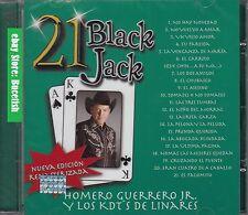 Homero Guerrero Jr y Los Cadetes de Linares 21 Black Jack CD New Nuevo sealed