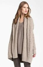 Vince Textured Sweater Blanket Car Coat Cardigan Oatmeal Beige L/Large NWT $445