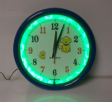 Neon Plasma Clock Dog Man Cave Bar Liquor Green