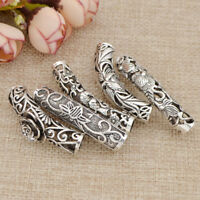 3 Pcs Dreadlock Hair Bead Cuff Tube Braid Rings Metal Jewelry Accessories New