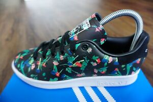 ADIDAS Stan Smith Floral Women's Trainers, Black - Size 4.5