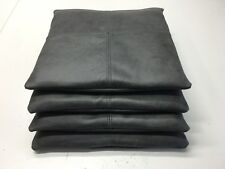 4x cuscino sedia vintage in pelle cuscini imbottiti 40x40cm used antico grigio scuro