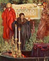 Queen Eleanor /& Fair Rosamund Evelyn De Morgan King Henry II 9x8 Inch Print