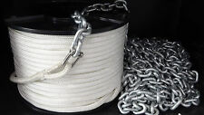 6mm x 90Mtr Double Braid + 7Mtr 6mm Short Link Chain - Drum Winch Rope