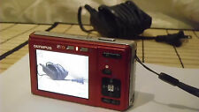 DIGITAL CAMERA:Olympus FE-20 8.0MP Video&Photo Red 3x Optical Zoom XD Media Nice