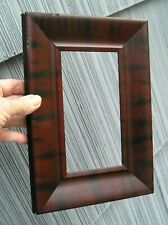 Antique Art Crafts Mission Picture Frame Faux Mahogany Black Finish 3 3/4 x 7