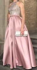 Beautifully ExquisiteBall Gown Dress Pink Silk and Sequined Top
