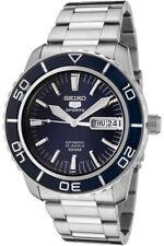 SEIKO 5 Sports Reloj Hombre Automático Día + FECHA FONDO DE CRISTAL AZUL
