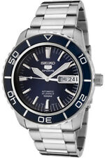 SEIKO 5 Sports Automatik Herrenuhr Tag+Datum Glasboden deep Blue SNZH53K1 Stahl