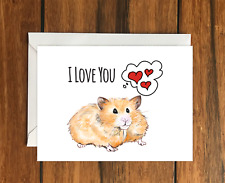 Happy Valentine's Day from the hamster greeting card A6