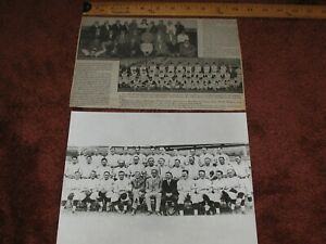 Lot of (2) ~1927 Pittsburgh Pirate Team Photo & 1960 Newspaper Clipping