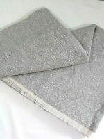 """Upholstery fabric remnant 53""""W x 86""""L Gray & Creamy White Woven"""