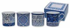Heath McCabe Princess Dutch Blue set of 4 Fine Bone China Mugs in Gift Box 24346