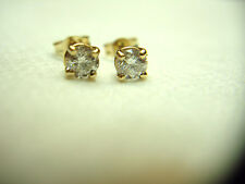 14K YELLOW GOLD 40 PTW DIA. STUD EARRINGS - LOT OF BANG FOR YOUR BUCK!