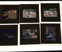 Lot Of 9 Vintage Color Photo Slides Of 1960's Ford Falcon Wagon