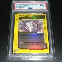 PSA 9 MINT Psychic Cube 01/147 Aquapolis Set REVERSE HOLO Pokemon Card