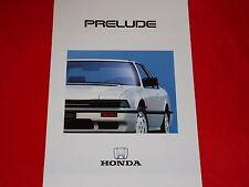 HONDA Prelude EX 1.8 + EX 2.0i-16 Prospekt von 1987