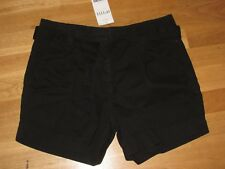 next ladies black cotton shorts and belt size 10 petite brand new with tags